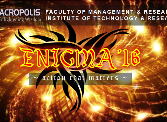 Management Fest – Enigma 2016 : Action that matters ( 18-19 November 2016)